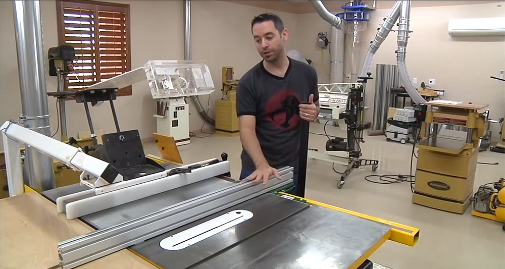 How To Square Your Aluminum Extrusion Fence Table Saw Homemade