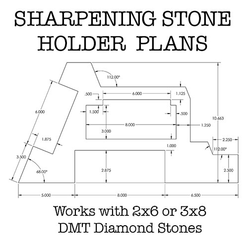 DMD Diamond Sharpening Stone Holder Set with Simple Adjustment Screws Holds the Stone Securely