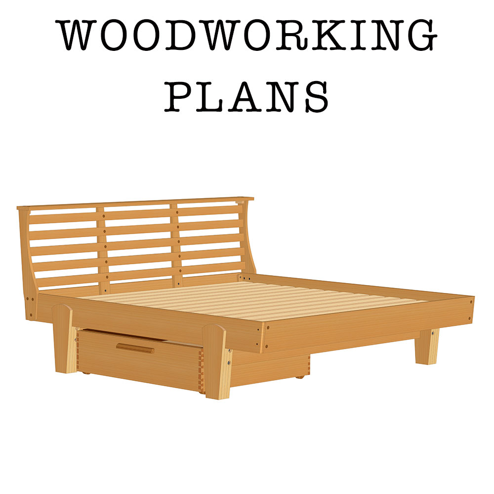 Home / Store / Woodworking Plans / AskWoodMan Platform Bed With Drawer
