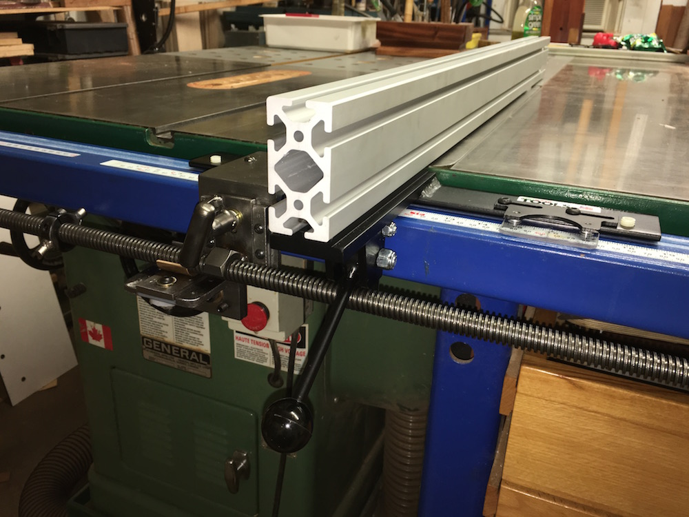 table saw micro-adjusting repositioner
