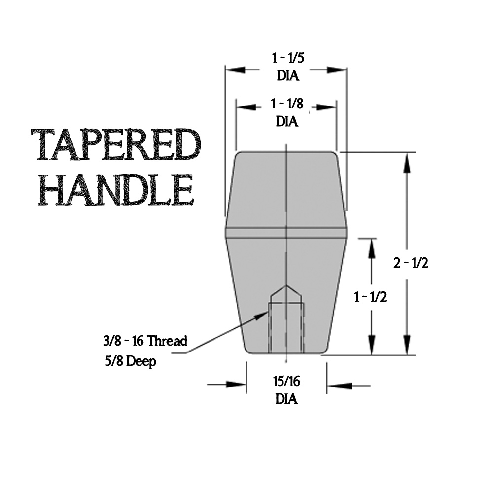 Tapered Handle (For T-Square)