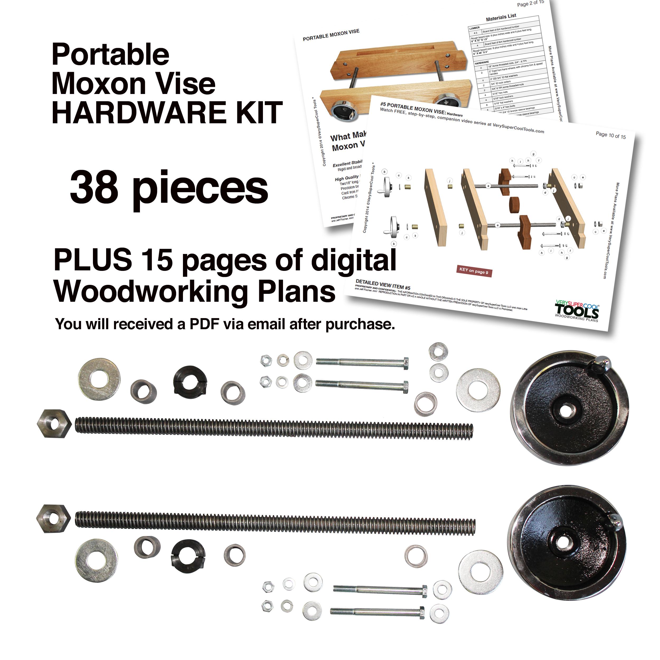 Portable Moxon Vise Hardware Kit Verysupercool Tools